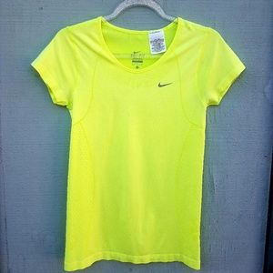 Nike-Dry Fit Running Shirt Neon Green/Yellow